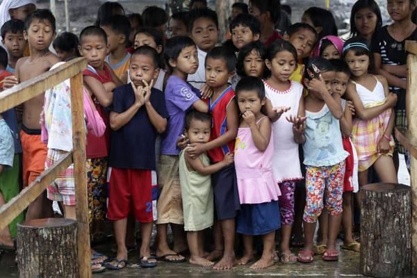 Typhoon devasted province of Leyte